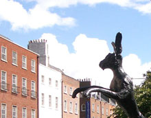 Hare sculpture by Barry Flanagan, Parnell Square (2006) Image courtesy of Dublin City Library and Archive