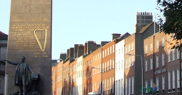View of Parnell Monument and Parnell Square East. Image © Dublin City Council