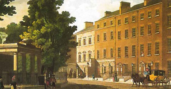 Malton Print of Parnell Square. Image courtesy of Dublin City LIbrary and Archive.
