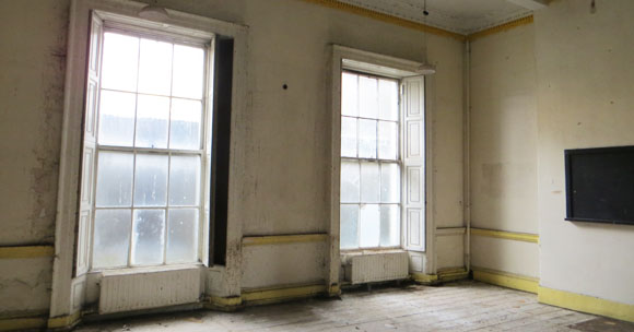 Former Coláiste Mhuire schoolroom. Parnell Square North. Image © Dublin City Council