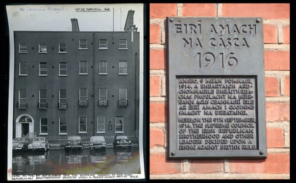 Easter Rising Memorial Plaque at 25 Parnell Square. Photograph © Coláste Mhuire