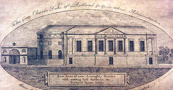 New Assembly Rooms at Lying-In Hospital, Cavendish Row. Image © Dublin City Library and Archive
