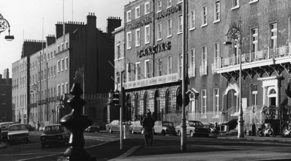 Parnell Square, north side from steps of No. 14. David Davison, 1974. Courtesy of Irish Architectural Archive.