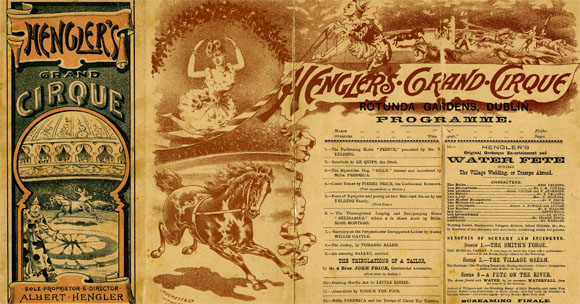 Hengler's Grand Cirque Programme 1896. Image courtesy of Dublin City Library and Archive