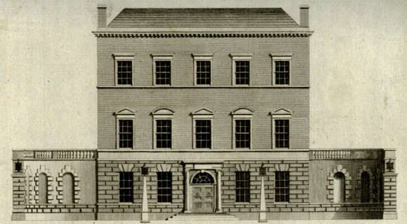 Engraving of Charlemont House, 1779, now home to Dublin City Gallery The Hugh Lane. Image courtesy of Dublin City Library and Archive