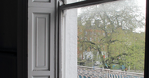View from first floor window of 21 Parnell Square. Image © Dublin City Council