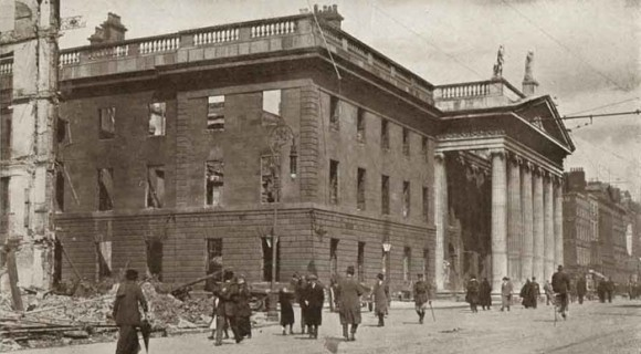 General Post Office, Dublin after the 1916 Rising. Image courtesy of Dublin City Library and Archive