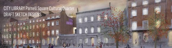 Draft sketch design of City Library, Parnell Square Cultural Quarter. Image © Dublin City Council