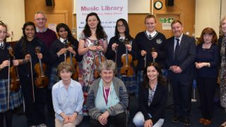 Violin course at Music Library, Central Library. Image © Dublin City Public Libraries