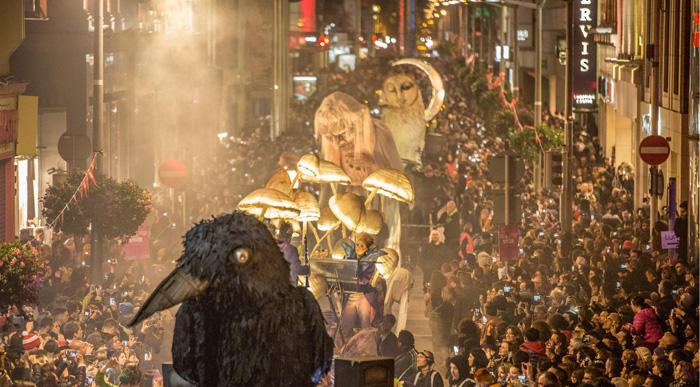 Macnas parade image from Bram Stoker Festival promotion 2017