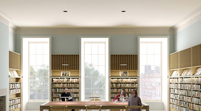 Image of a Reading Room at the planned City Library, Parnell Square Cultural Quarter. Image copyright Picture Plane.