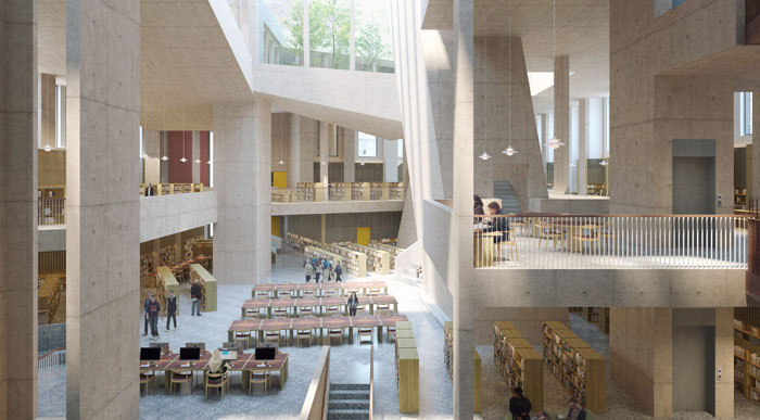 CGI image of the new City Library design at Parnell Square Cultural Quarter. Image © Picture Plane.