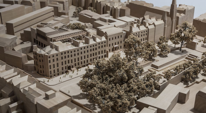 Design model of the City Library at Parnell Square Cultural Quarter. Image credit Ste Murray.